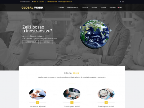 dizajn sajta Global Work